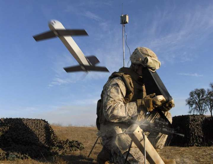 AeroVironment's Switchblade is considered a top candidate for the U.S. Army's Lethal Miniature Aerial Munition System (LMAMS) program. The backpackable, tube-launched, battery-powered Switchblade sends back streaming video from an EO sensor, and when the operator designates a target, Switchblade becomes a weapon –  guiding itself onto the target and detonating a small warhead. AeroVironment photo