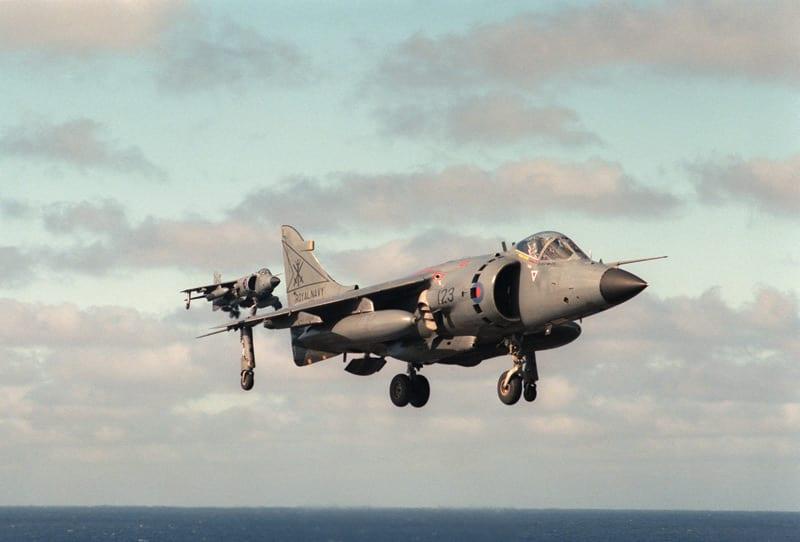 British Navy Sea Harrier FRS1