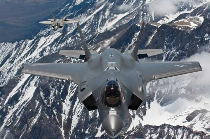 F-35A and F-22A In Formation