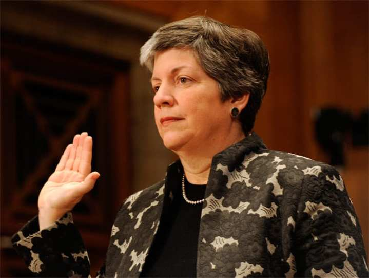 Janet Napolitano swearing-in