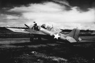 A Marine Corps Grumman F4F Wildcat
