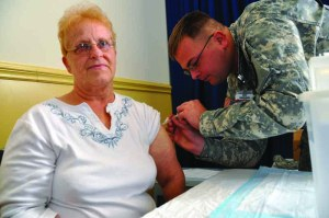 Military retiree spouse flu shot