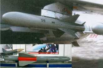 Figure 5: The YJ-81 is the aircraft launched rocket-propelled variant of the YJ-8 without a booster. Chinese internet courtesy of Christopher P. Carlson