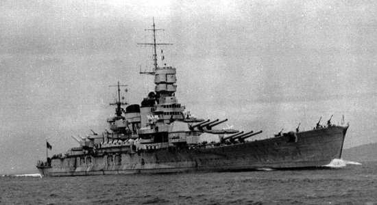 The Italian battleship Roma was considered to be a beautiful ship in keeping with Italian naval design. Italian Navy photo