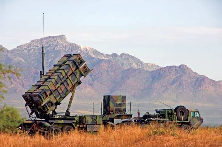 A deployed Patriot launcher. The venerable system is expected to be in U.S. Army service to 2040 or beyond. DoD photo