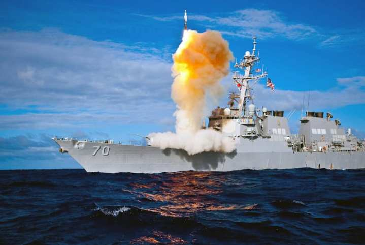 During exercise Stellar Avenger, the Arleigh Burke-class destroyer USS Hopper launches a Standard Missile-3 (SM-3), successfully intercepting a sub-scale short range ballistic missile, launched from the Kauai Test Facility, Pacific Missile Range Facility, Barking Sands, Kauai, Hawaii, July, 31, 2009. This was the 19th successful intercept in 23 at-sea firings for the Aegis BMD program, including the February 2008 destruction of a malfunctioning satellite above the Earth's atmosphere. U.S. Navy photo