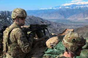 U.S. Army Sgt. Curtis Smith, 2nd Battalion, 327th Infantry Regiment, 1st Brigade Combat Team, 101st Airborne Division (Air Assault), provides security during an Afghan Border Patrol (ABP) outpost assessment in Afghanistan on Feb. 10, 2012. Even while the Army is in the midst of combat operations, its already planning for the future. U.S. Army photo by Spc. Ryan Hallgarth