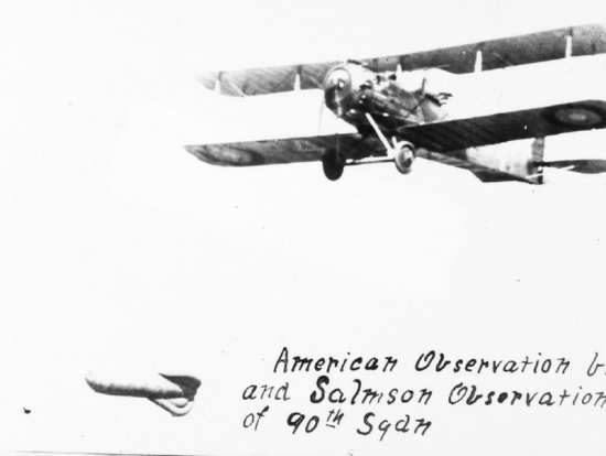 Dedicated reconnaissance aircraft such as the Salmson 2 started to replace observation balloons during World War as camera technology improved. San Diego Air & Space Museum Archives photo