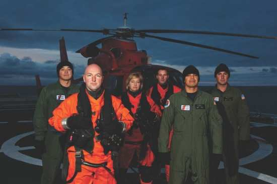 MH-65 Dolphin helicopter crew