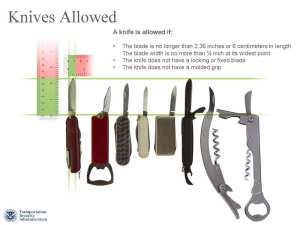 TSA Small Knives Allowed