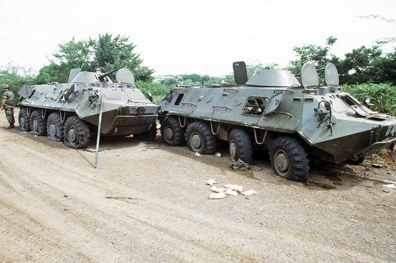 Operation Urgent Fury Seized btr 60s