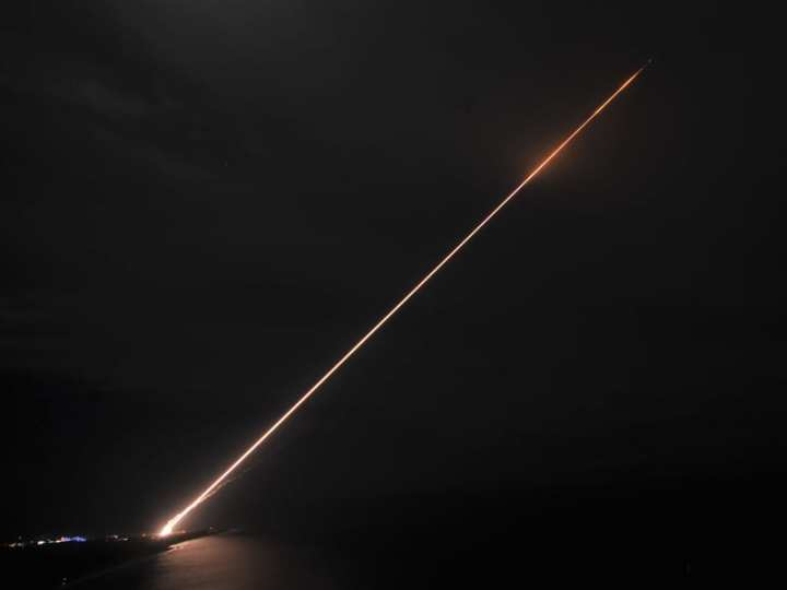 THAAD interceptor missile launch