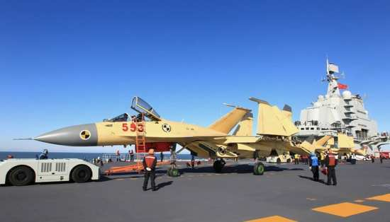 Indian Carrier Aviation J-15s aboard Liaoning