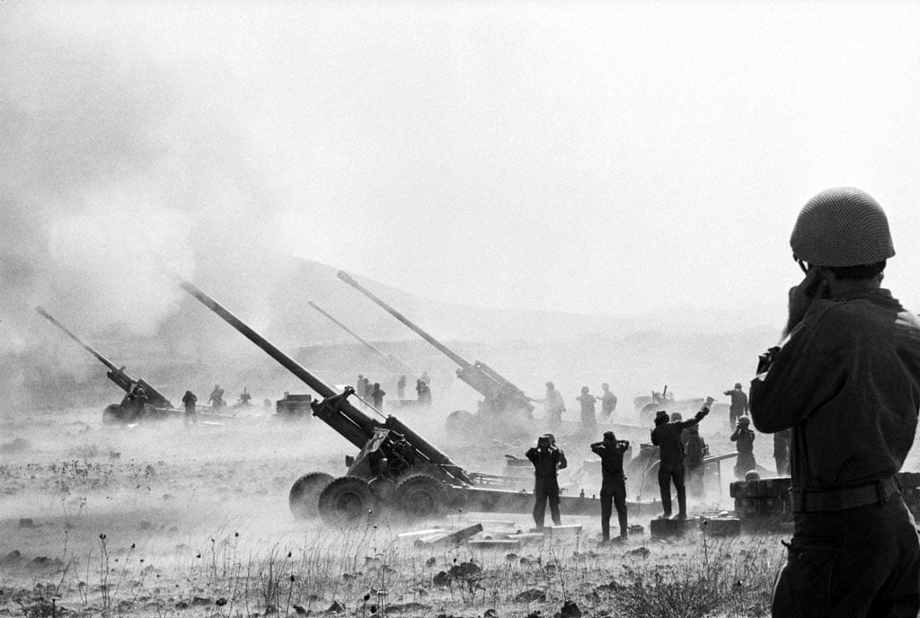 CIA Photo Israeli Tanks Occupy The Golan Heights During Yom Kippur War Which Had Been Captured