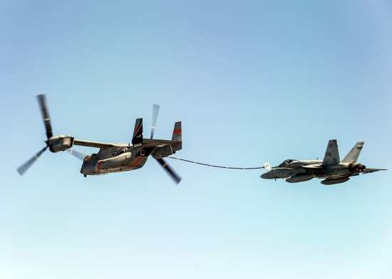 V-22 Osprey Refueling Flight