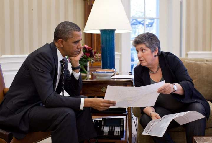 napolitano and obama in oval office