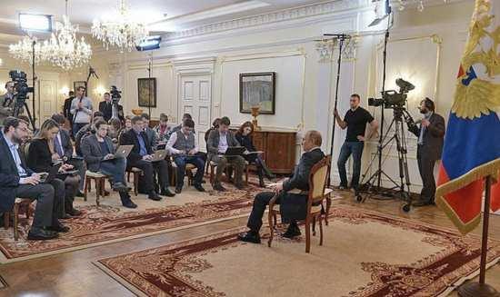 Vladimir Putin answers journalists on Ukraine