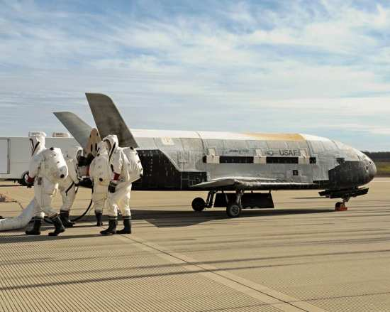 X-37B on ground