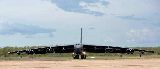B-52 taxying Darwin