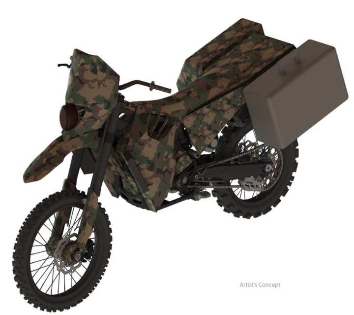 SilentHawk Hybrid Motorcycle w Saddle Bags