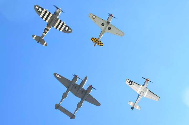 Heritage Flight flyover