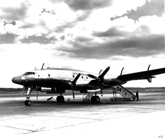 The original Lockheed C-121A Constellation Columbine used by Gen. Eisenhower when he was supreme allied commander in Europe after World War II. DOD photo via Robert F. Dorr