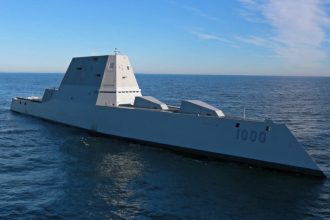 Zumwalt at sea
