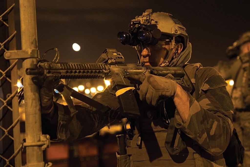 Marine Raider Regiment night raid