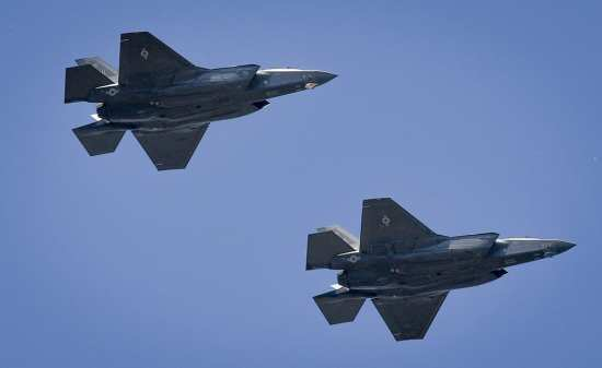 two f-35as
