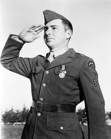 """Sgt. Franklin """"Zip"""" Koons of the 1st Rangers was reckoned to be the first U.S. Army soldier to fire a shot in anger in Europe. For his bravery in the Dieppe raid, he received the British Military Medal – the second-award for bravery – awarded by Admiral Lord Louis Mountbatten."""