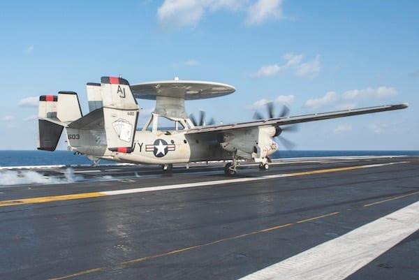 E-2C Launch from CVN 77