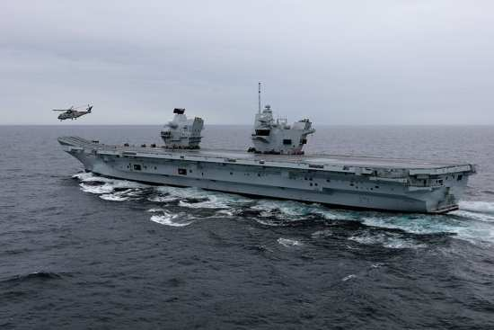 HMS Queen Elizabeth on Sea Trials