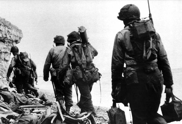 Rangers at Pointe du Hoc - 6 June 1944. National Archives photo