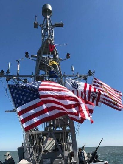 USS Zephyr battle ensign
