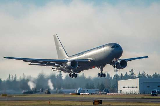 Maiden Flight for USAF's First KC-46A | Video