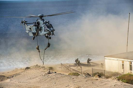French SOF helicopter assault force Rear Adm. Laurent Isnard