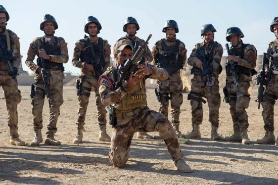 Iraqi CTS training Lt. Gen. Kenneth E. Tovo
