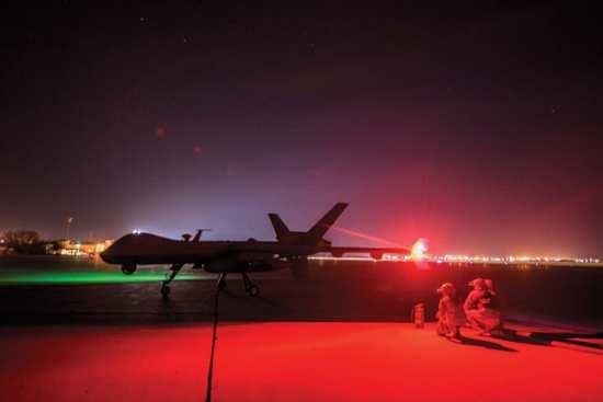 """Reaper refueling Lt. Gen. Marshall B. """"Brad"""" Webb"""