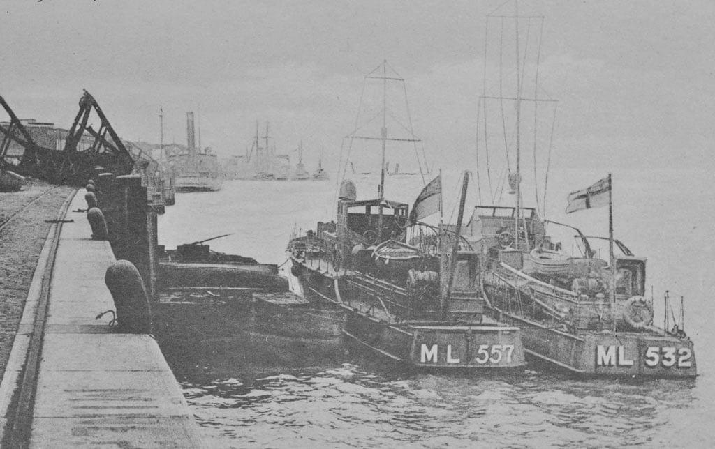 Royal-Navy-motor-launches-Zeebrugge