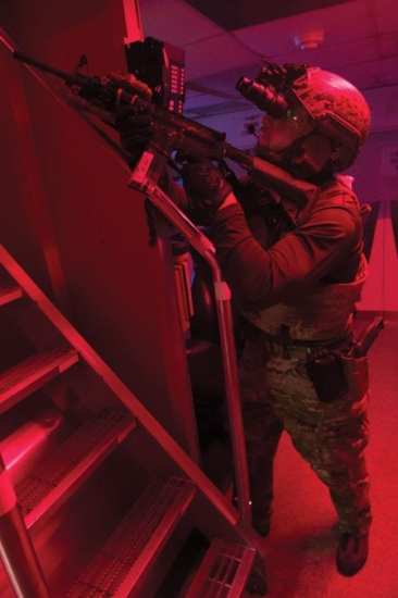 SEAL boarding Rear Adm. Tim Szymanski