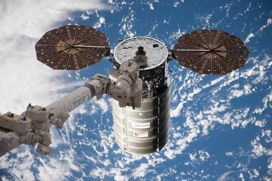 Cygnus resupply ship ISS web
