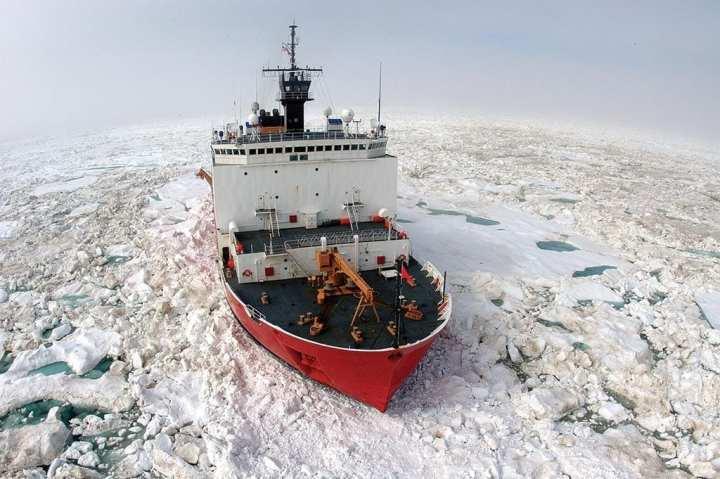 Healy breaking ice