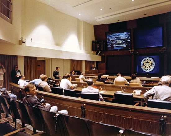 Emergency Conference Room in the National Military Command Center (NMCC). national archives