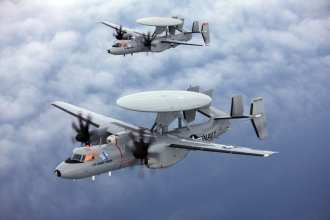 The E-2D is one of the lead platforms selected for EGI-M integration. U.S. Navy photo