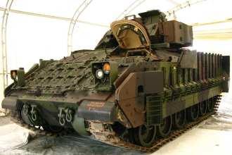 Bradley combat vehicle coating
