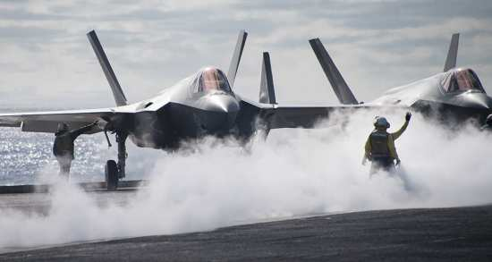 F-35C aircraft at sea