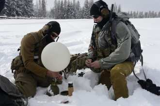 U.S. Air Force Special Tactics Airmen with the 24th Special Operations Wing perform avalanche training at Moran, Wyoming, Dec. 13, 2016. Special Operations Weather Team Airmen have been an integral piece of Special Tactics with unique training to conduct multi-domain reconnaissance and surveillance across the spectrum of conflict and crisis.