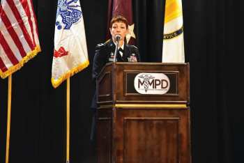 U.S. Army Medical Research and Materiel Command Commanding General Maj. Gen. Barbara R. Holcomb delivered this morning's opening remarks at the 2017 Military Medicine Partnership Conference and Expo