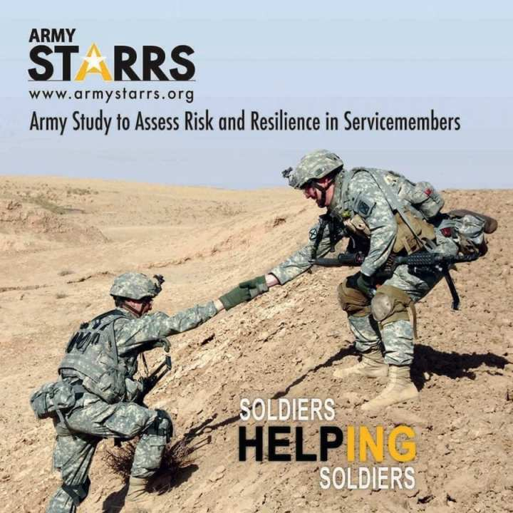 The U.S. Army STARRS Study found major depression to be five times higher among active-duty service members compared to civilians