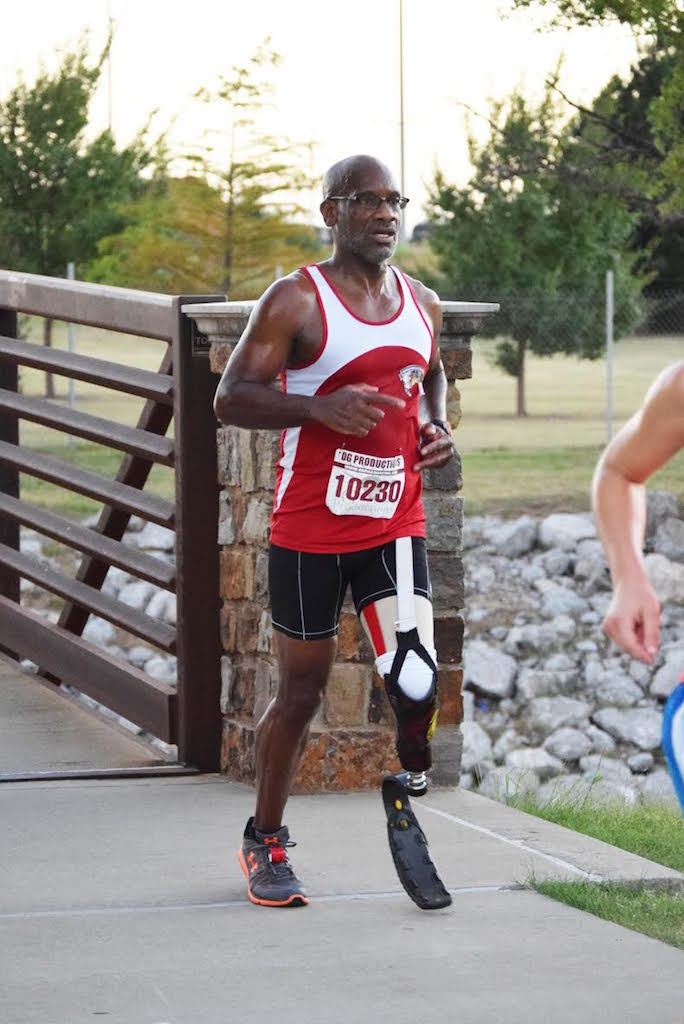 Tri-athlete John Shelton participates in a Limbs for Life event.